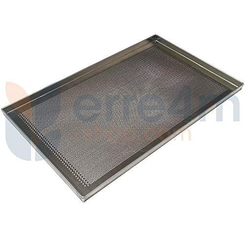 Erre4m Teglia da Forno GN1/1 53x32,5x2(h.) cm. in Alluminio Forata Professionale