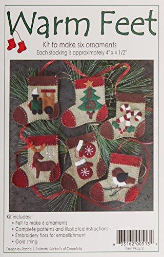Rachel's Of Greenfield Kit Felt Warm Feet Ornament