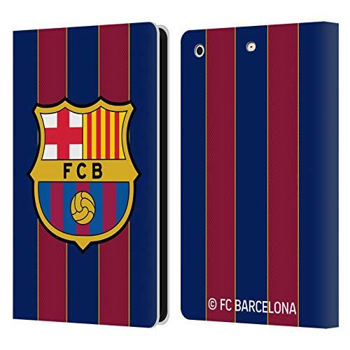 Head Case Designs Oficial FC Barcelona Casa 2020/21 Kit de Cresta Carcasa de Cuero Tipo Libro Compatible con Apple iPad Mini 1 / Mini 2 / Mini 3