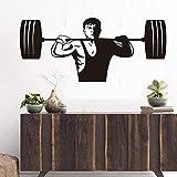 JXMK Gym Fitness Wandaufkleber Starke Gewichtheber Spieler Kunst Wandtattoo Muskel Athletic Vinyl...