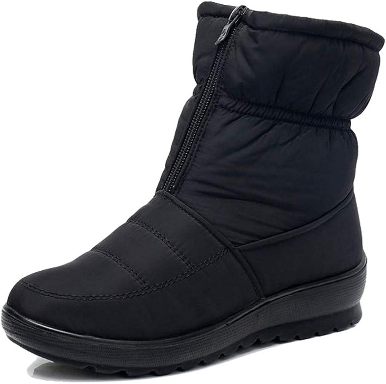 d362c58580bf7 York Zhu Women's Ankle Boot,Flat Zipper Warm Waterproof Anti-Slip ...