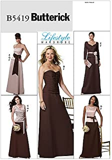 BUTTERICK PATTERNS B5419 Misses' Top, Skirt and Sash, Size BB (8-10-12-14)