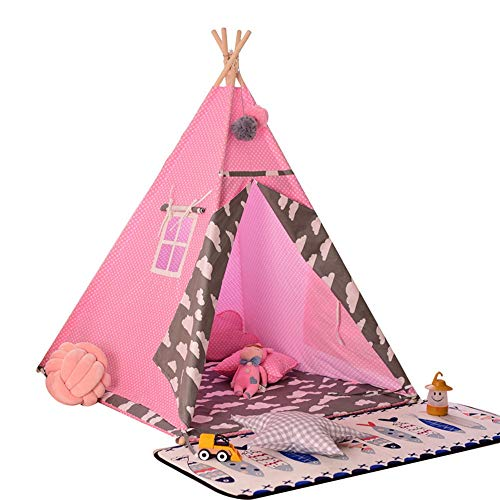 Kids Play Tent Children Play House Toys For Baby Indoor And Outdoor Playing Ideal Size For Children's Rooms Party And Holidays Decoration Children's Play House ( Color : Pink , Size : 120x120x156cm )