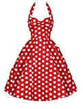 maxsan Pin Up Plus Size Women Clothing Summer Party Office Gown Robe Ete Sexy 50S Vintage Big Swing ...