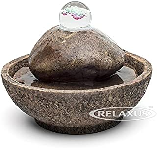 The Big Stone Water Fountain! Indoor Tabletop Relaxation Water Feature Brings Nature & Tranquility Inside! Great Gift!