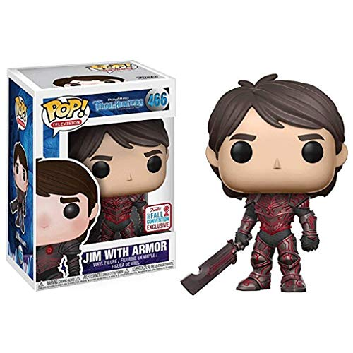 Funko Pop Television : Trollhunters - Jim with Armor (NYCC 2017 Fall Convention Exclusive) 3.75inch Vinyl Gift for TV Fans SuperCollection
