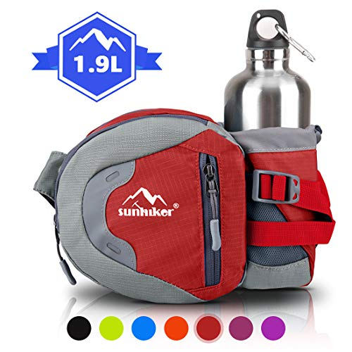 sunhiker Hiking Waist Bag Pack, Sport Fanny Pack with Water Bottle...