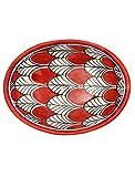 Tranquillo Seifenschale roter Pfau aus handbemalter Keramik mit Löchern für den Wasserablauf 13 x...