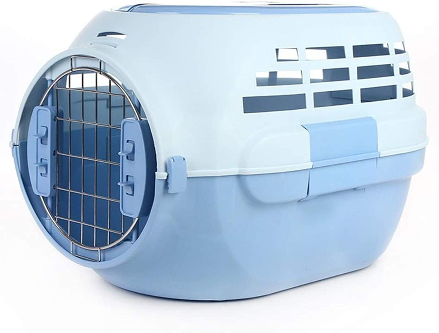 ETH With Skylight Cat Air Box Breathable Portable Out Air Box Portable Travel Consignment Pet Air Box (color   bluee)