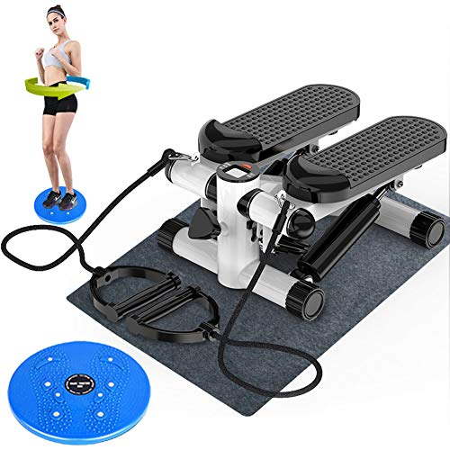 HJKHJK Side Stepper Fitnessgeräte für gelenkschonendes Training Auf-und-Ab-Stepper in einem Gerät Nutzergewicht bis 100kg verschleißfreie Hydraulik-Zylinder Trainingscomputer