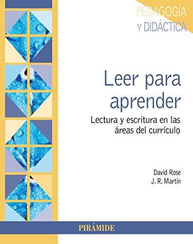 Leer para aprender: Lectura y escritura en las áreas del currículo (Psicología)