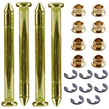 PLUMIA Door Hinge Roller Pin Bushing Repair and Door Hinge Pin Kit Compatible with Ford F150 F250 F350 Bronco SUV
