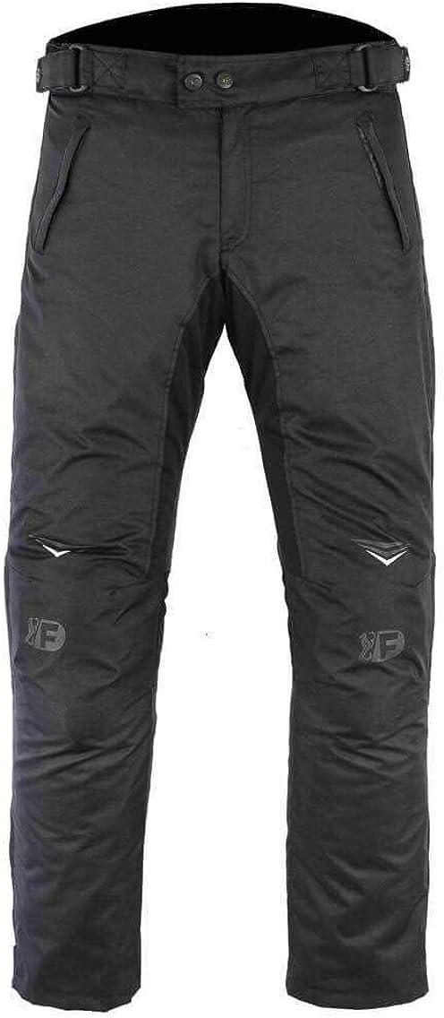 Freeday Damen Motorradhose Für Den Winter Mit Ce Schutz 100 Wasserdicht Schwarz Pl 080 Bekleidung