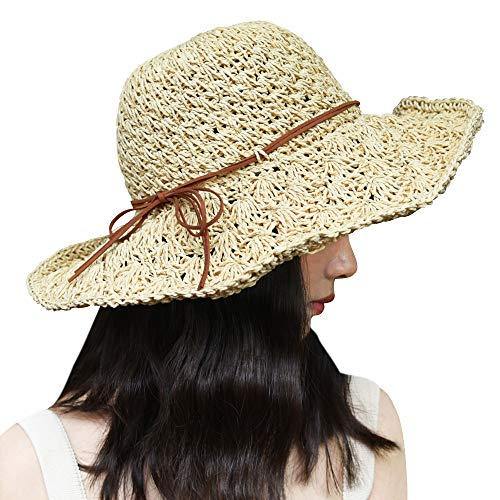 Mode Frauen-Dame Girl Beach Medium Brim Summer Faltbare Travel Sun Strohhut Cap