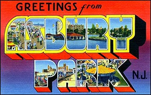 American Vinyl Vintage Greetings from Asbury Park Sticker (Old Postcard Art Logo nj New Jersey)
