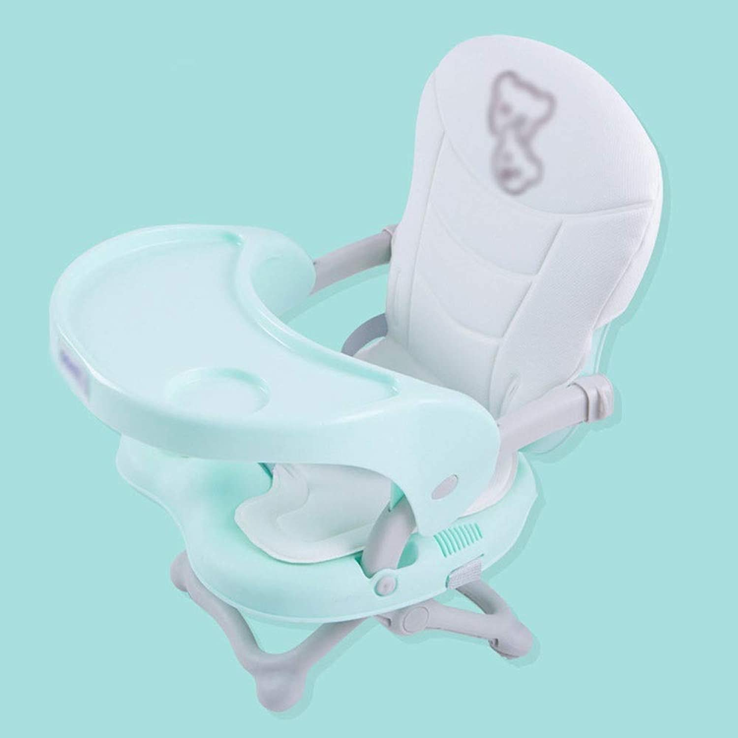 WYQBBY Baby high Chair - Aluminum Alloy, 6 Months - 36 Months Baby Multi-Function Luxury Foldable Portable Out-of-The-Box Baby Change Dining Stool - 3 colors Available (color   bluee)