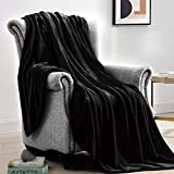 Suchtale Fleece Blanket (XL-Twin Size 66x90 Black) Plush Fuzzy Lightweight Throw, Super Soft Microfiber Flannel Nap Blankets for Couch, Bed, Sofa Ultra Luxurious Warm and Cozy for All Seasons