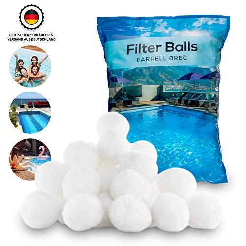 Farrell Brec® 700g Filterbälle - Extra langlebige Filter Balls für glasklares Wasser im Pool - Umweltfreundlicher Ersatz für Quarzsand und Filterglas - Filterballs für die Sandfilteranlage