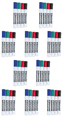 Betzold 756649 Whiteboard-Marker Set 40 Marker-Stifte in 4 verschiedenen Farben Rot Blau Schwarz Grün