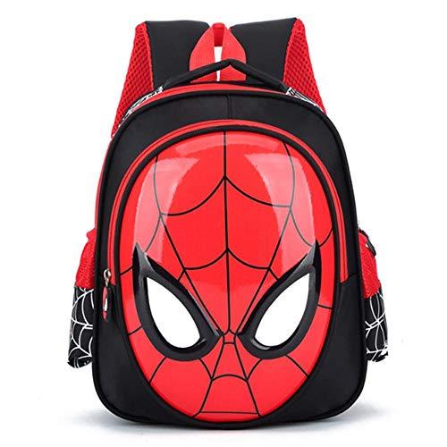 Mochila Infantil ZWRY Niños de 3 a 6 años Mochilas Escolares en 3D Mochila de Libro Spiderman para niños Mochila de Hombro para niños Mochila Mochila Impermeable Mochilas Negro