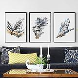 WEDSAPoetry Moderno Abstracto Acuarela Ángulo Urbano A4 Lienzo Pintura Art Print Poster Picture Pinturas de Pared Decoración del hogar | 3pcs Set de Pintura de Lienzo