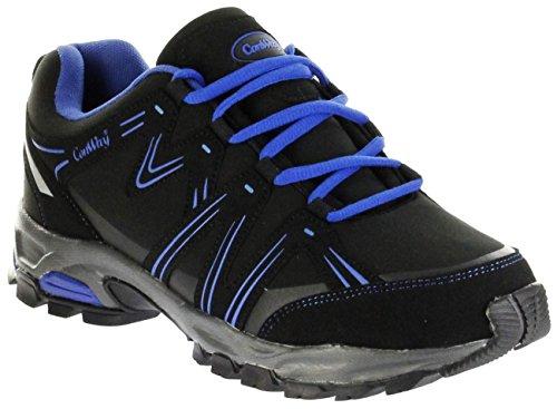 ConWay Outdoor-Trekking Schuhe Black Blue Softshell CONTEX Damen Herren Lars, Farbe:blau, Größe:45 EU
