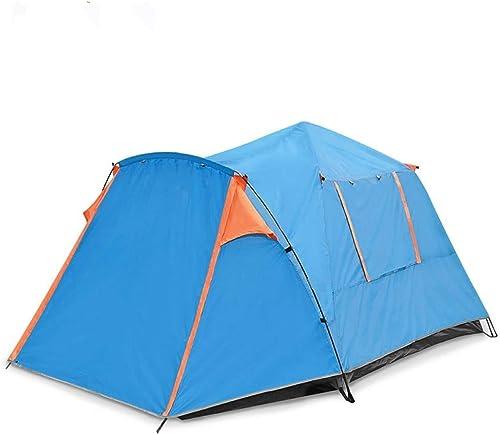 JJHR tente 1 Chambre 2 Hall Tente Double Tente Extérieure Camping pour Plusieurs Personnes Camping Tente Anti-Pluie Crème Solaire Parasol Tente