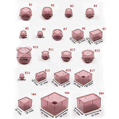 ling 16pcs Silla Tabla De Silicona Pierna Mat, Antideslizante Tabla Pata De La Silla Tapas De Protec