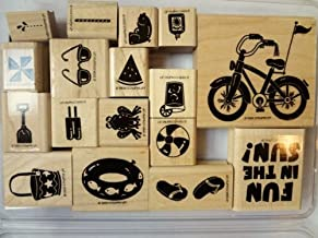 Stampin Up Fun in the Sun Rubber Stamp Set 17 Pieces