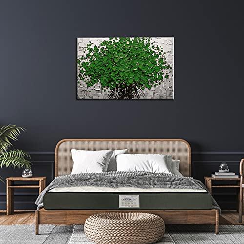 Dreamzee Vilasa™ - Globally Certified 100% Natural Latex Monozone - Luxury Organic Mattress with Anti-Bacterial Shield - Medium Comfort (78x60x5 Inches)