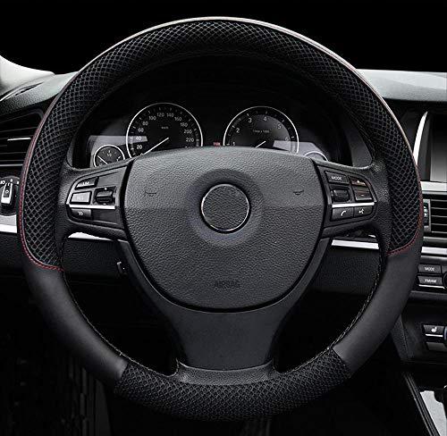 Funda de Volante de Seda de Hielo Transpirable Antideslizante para automóvil negro