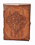 Purpledip Leather Journal (Diary Notebook) 'The Beast': Handmade Paper In Leather...
