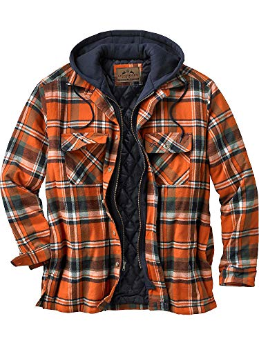 Legendary Whitetails Mens Maplewood Hooded Shirt Jacket, Tomahawk Plaid, XX-Large