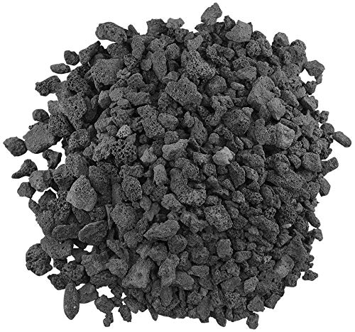 American Fireglass LAVA-M-10 American Fire Glass Medium Sized Black Lava Rock – Porous, All-Natural, 1/2 Inch to 1 Inch Thick x 10 Pounds, 1 Pack