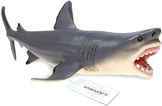 Amakunft Megalodon Shark Aquarium Ornament, Carcharodon Megalodon Fish Tank Decorations, Durable Resin Safe for All Fish & Aquatic Pets The Meg Toys for Children & Home Decorations