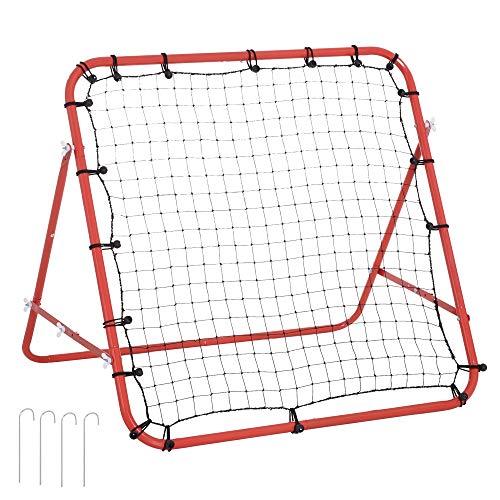 HOMCOM Rebounder Net Practise Kickback Target Goal Play Teens Adults...