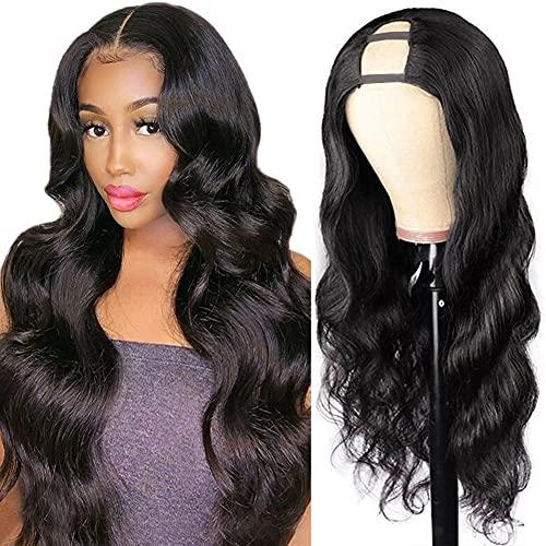 ISEE Hair U Part Wig 20 Inch Human Hair Wigs 150% Density Full Head U Shape Wig Natural Color Human Hair Wigs Body Wave Half U Wig Human Hair Extension For Black Women