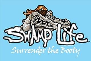 SWAMP LIFE Gator Skull SURRENDER THE BOOTY Vinyl Decal Sticker 12