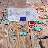 set per la creazione di gioielli, queta accessori per il fai da te con pinza per la riparazione di gioielli, collane, ciondoli, accessori per fai da te