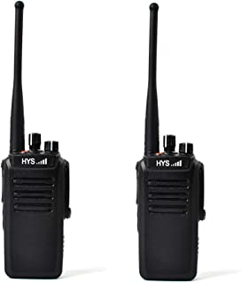 HYS TC-WP10W Long Range Walkie Talkies UHF 400-480MHz IP67 Professional Waterproof/Dustproof 2 Way Radio for Hiking Or Travelling(2 Pack)