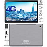 YESTEL Newest Android 10.0 Tablet Ultra-Portable 5G WI-FI and Dual 4G LTE 10.1 Inch Octa-Core IPS Tablets : 3GB+64GB(128GB Expansion) Dual Camera, Google Certified(Verifiable and More-Gray