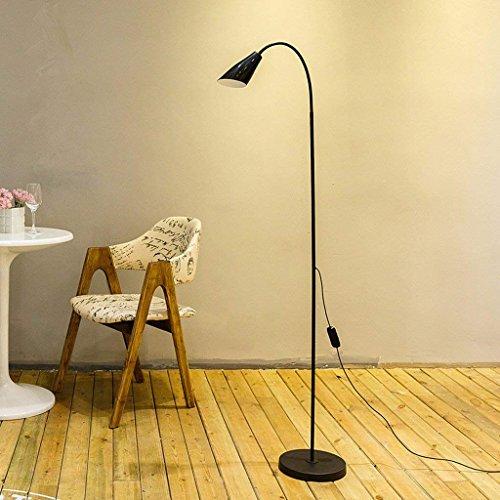 DSJ vloerlamp, eenvoudige, moderne staande lamp, led-oogbescherming, staande lamp, verticale lamp, woonkamer, bedlampje, slaapkamer, tafellamp, zwart