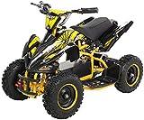 Actionbikes Motors - Miniquad eléctrico para niños (800 W, 36 V, sistema de seguridad táctil)