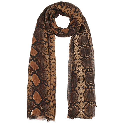 Tamaris Snake Schal Damenschal Damentuch Sommerschal (One Size - braun)