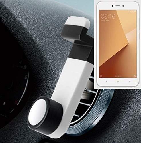 K-S-Trade® Smartphone Universal Holder Holder/Car Montaje/Parabrisas para El Xiaomi Redmi 5A. Blanco. Titular De Teléfono De La Rejilla De Ventilación Se Puede Utilizar con Los Teléfonos