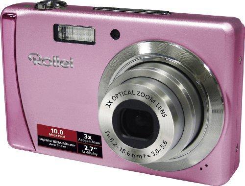 Rollei Compactline 122 Digitalkamera (10 Megapixel, 3-Fach optischer Zoom, 6,9 cm (2,7 Zoll) Display, High Speed, HD Video) pink