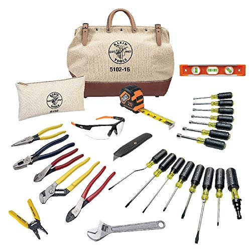 Klein Tools 80028 Electrician Hand Tools Set - 28 Piece, Pliers, Screwdrivers, Nut Drivers, Wrenches, More