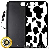 Custom iPhone 6/6S Case (Cow Print) Edge-to-Edge Rubber Black Cover with Shock and Scratch Protection | Lightweight, Ultra-Slim | Includes Stylus Pen by INNOSUB