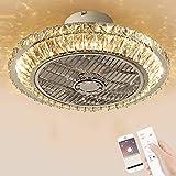 Ventilador de techo LED con iluminación, atenuación con control remoto Ventilador de techo con control remoto 78W Silent Silent Invisible Techo Ventilador Luz Comedor Dormitorio Vida Luces Colgantes