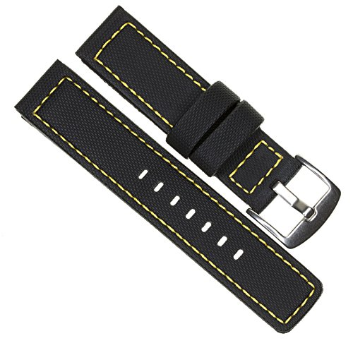 20mm MARATAC Elite Series Black PVC Rubber Strap...